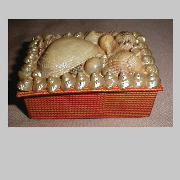 Lovely Small Victorian Shell Trinket Box