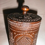 Lovely Chip Carved Tobacco Humidor