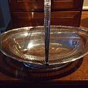 SALE John Round English Silver Plated Cake/Bride's Basket  C:1880