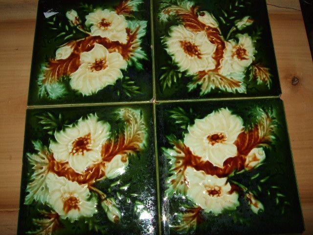 """Set Of 4 English 6x6""""  Tiles"""