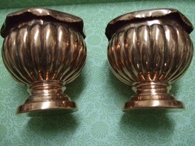Pr. Of Miniature Copper Planters
