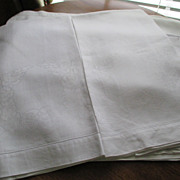 "Pr. Oversized European Damask Linen 25 x 40"" Towels C:1940"