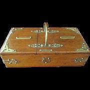 English Oak/Brass Box C:1880