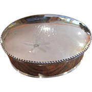 English Silver on Copper Oval Biscuit Box C:1897