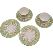 Tea For Two Procelain Cups, Saucers And Plates