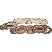 """Set Of 12 Sterling 6"""" Plates By Wallace"""