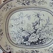 """English Potter Thomas Till & Son """"Shanghae"""" 15 1/2"""" x 12 3/4"""" Platter"""