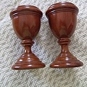 Pr. Of  English Treen Goblets C:1860
