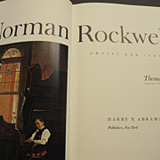 """1970 """"Norman Rockwell, Artist and Illustrator"""" book by Thomas S. Buechner"""