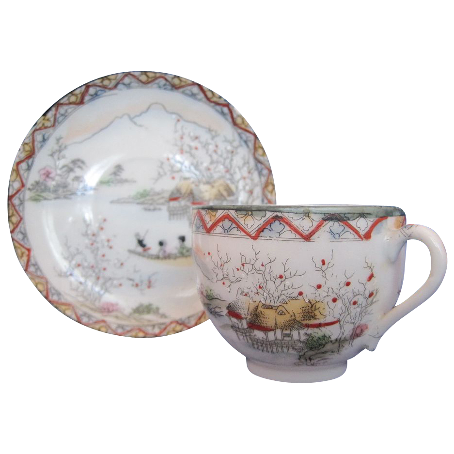 Vintage Tea Cup and Saucer Made In Japan