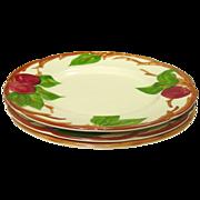 "Franciscan China, Apple Pattern, 8"" Salad Plates, U.S.A."