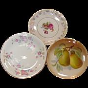 Three Decorative Plates, Bavaria, Bermany, One Artist Signed