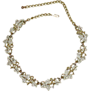 """Vintage Sarah Coventry, """"Plain and Fancy"""" Necklace"""