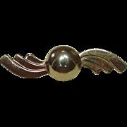 Vintage Coro Jewelry, Art Deco Pin