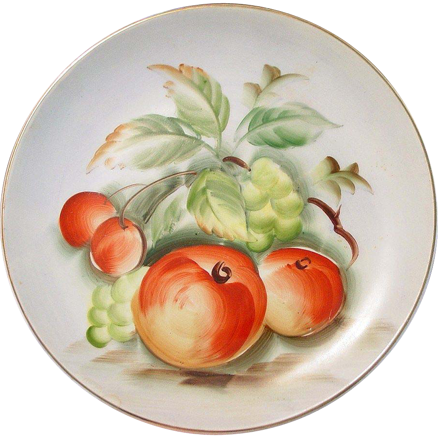 """Lefton China ~ Hand Painted Plate ~ 8 1/4"""" ~ Japan"""