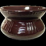 Robinson-Ransbottom Cuspidor ~ Brown Glaze ~ Perfect Condition