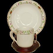 Noritake ~ Demitasse Cups & Saucers ~ Handpainted ~ 8 sets