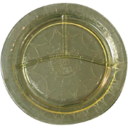 """Depression Glass ~ Cameo ~ 10 1/2"""" Grill Plates, Yellow"""