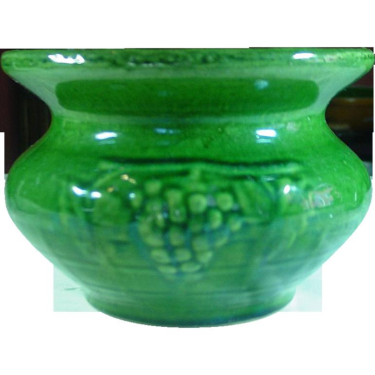 McCoy Pottery ~ Grape Cuspidor, Green ~ 1926