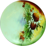 Hand Painted Plate ~ Caine's Studio ~ Bavarian ~ Artist Signed