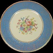 """Salem China, Ohio ~ 10 3/4"""" Plate ~ 23 KT Trim, Floral Bouquet Decor"""