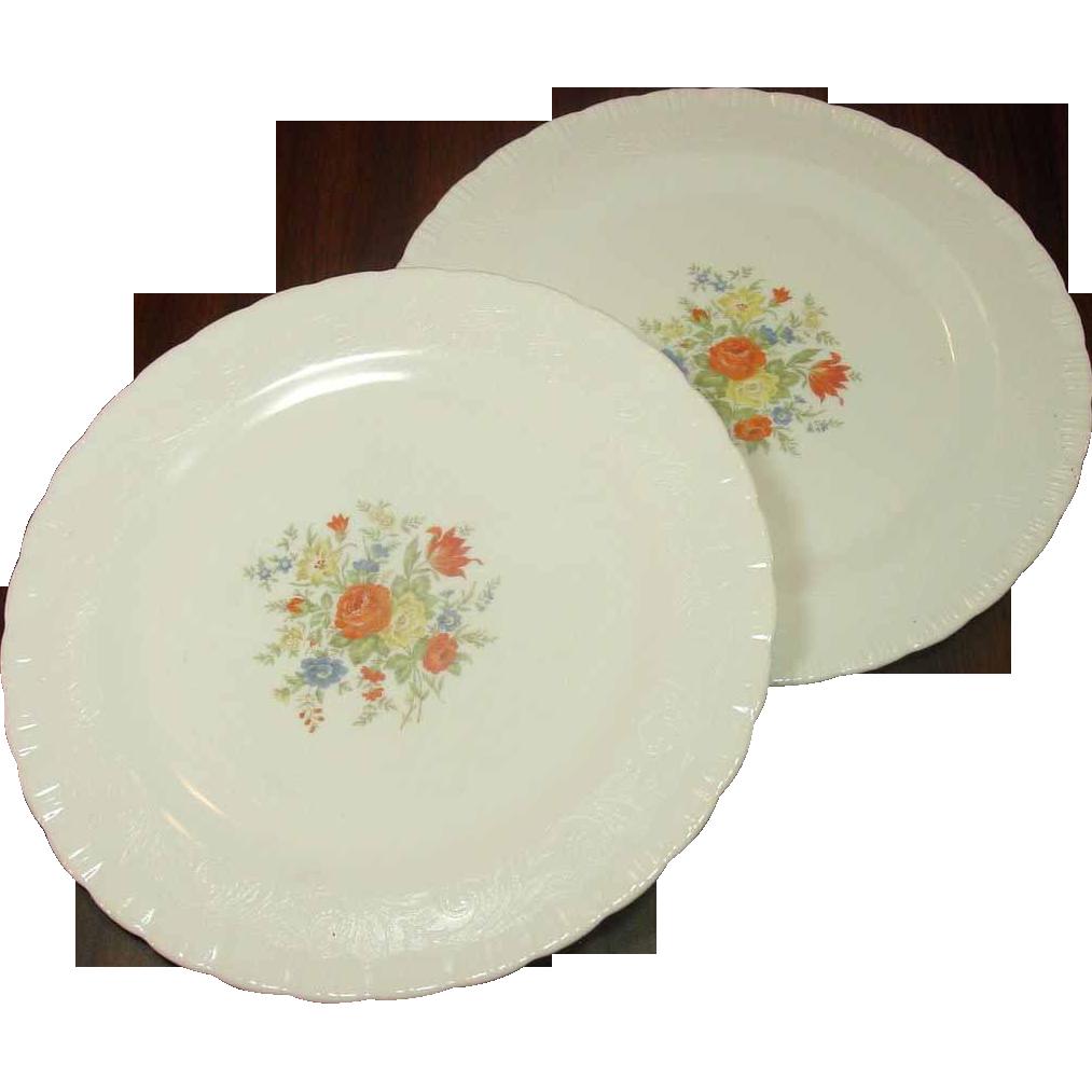 MacBeth-Evans Glass ~ Chinex Classic Sandwich/Cake Plates ~ Two