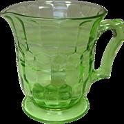 Hazel Atlas Glass Company ~ Depression Green Pitcher ~ Colony