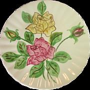 Blue Ridge, Southern Potteries, Erwin Rose Plate, U.S.A.