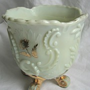 Northwood custard Glass 'Louis XV' spooner