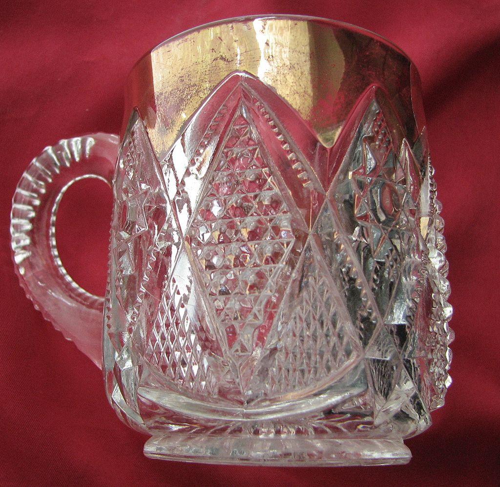Eapg 'Minnesota' pattern glass mug / cup