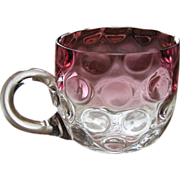 Victorian cranberry Rubina punch cup, Hobbs or Phoenix Consolidated Glass