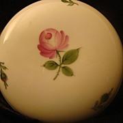 Vintage Porcelain Wien Augarten Vienna Pink Rose Lidded Dish