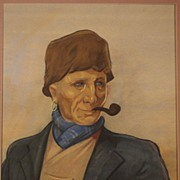 Dutch Volendam fischerman by Dutch Willy Sluiter ( 1873-1949), signed and dated