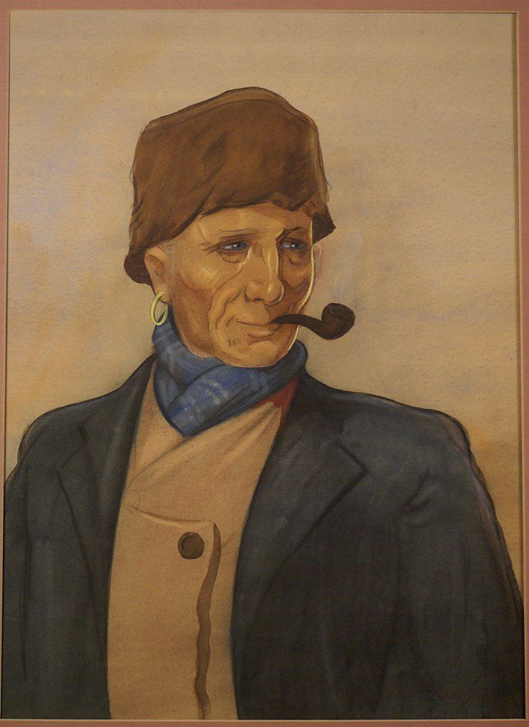 Dutch Volendam fischerman by Dutch Willy Sluiter ( 1873-1949), signed and dated