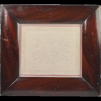 Georgian Pin Prick Picture Embossed Paper Georgian Circa 1820