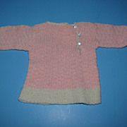 Vintage Pink Knit Doll/Bear Sweater