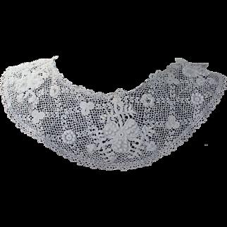Lovely Irish Filet Crochet Collar