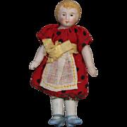 Sweet Minature Bisque Dollhouse Doll