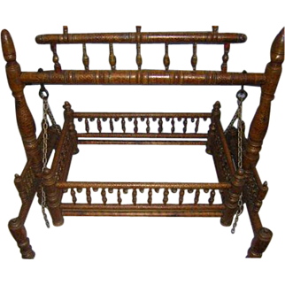 SALE Rajasthani Palace 1800's Childs Cradle Very Rare