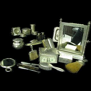 SALE RARE1890 Sterling Dresser set Merrick Pattern 21-Pc SET