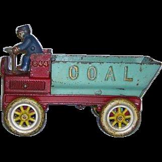 "SALE 8.5"" Kenton Working Cast Iron Toy Coal Dump Truck"
