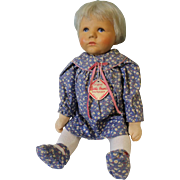 """20"""" Kathe Kruse Du Mein Baby Doll Stoffpuppe Compo Head HH Wig, Stockinette Body"""