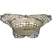Sterling Silver 1901 Hamilton & Co. Birmingham England Elaborate footed BOWL