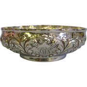 Lg. Black, Starr & Frost Early Elaborate Sterling Silver Serving Bowl