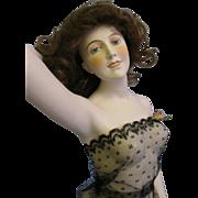 "Galluba & Hofmann HUGE 17"" Early German Bisque Bathing Beauty Wigged, Gorgeous"