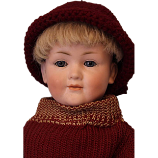 "SALE c.1912 RARE 14.5"" German Bisque Kley & Hahn 549 Character Antique Child Doll"