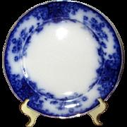 "English Flow Blue Grimwades ""Nancy"" 10"" Dinner Plate"