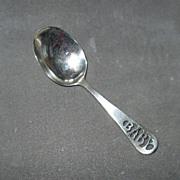 "Vintage Sterling Silver ""Baby"" Spoon"