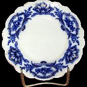 "English Flow Blue 10"" Semi-Porcelain ""Alaska"" Plate"