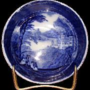 "English Flow Blue Pottery ""Jenny Lind"" Serving Bowl"